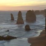 Hazy picture of twelve apostles rock formation