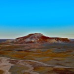 Brightly colored desert - looks like a painted desert.