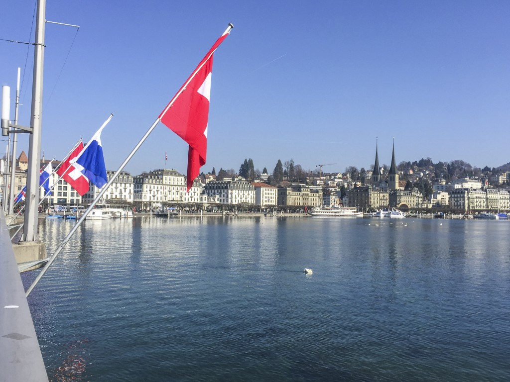 Flags on the Water Luzern