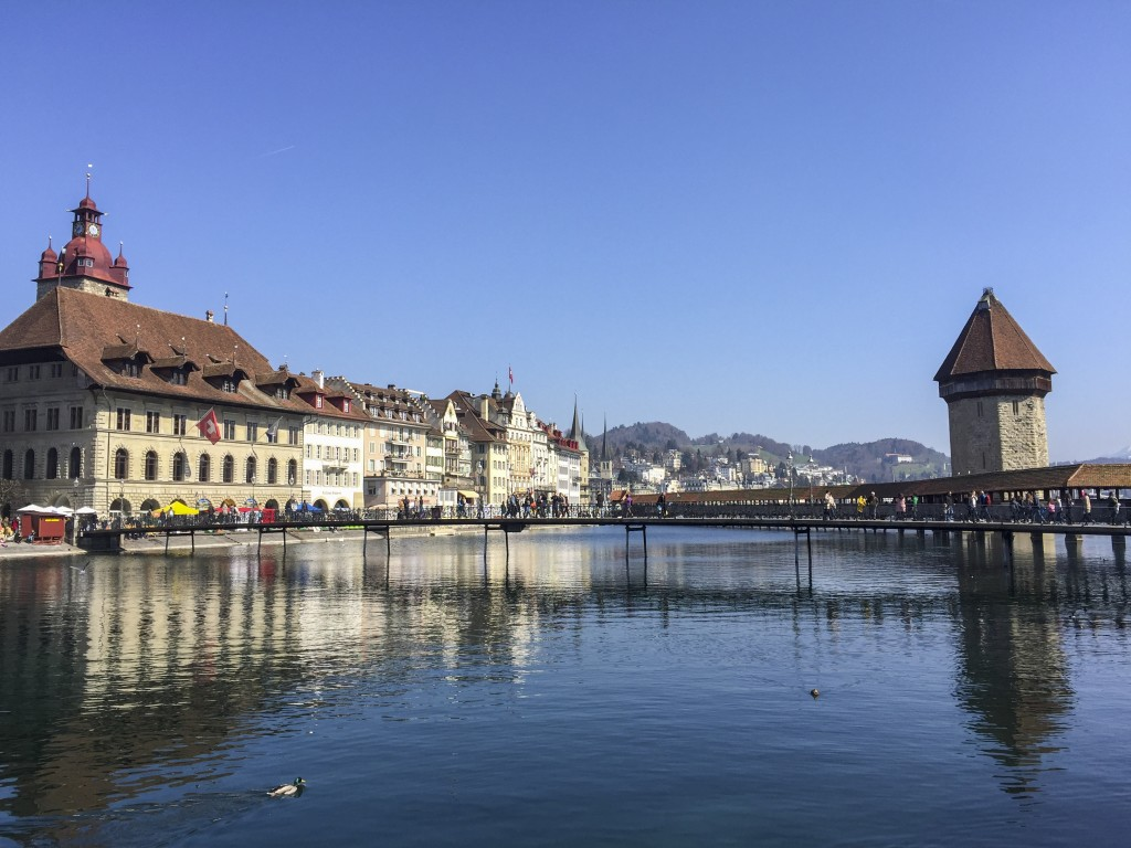 Buildings and Water in Luzern