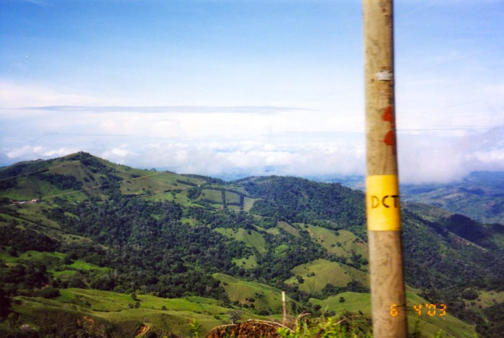 Costa Rica bus view - Monte Verde